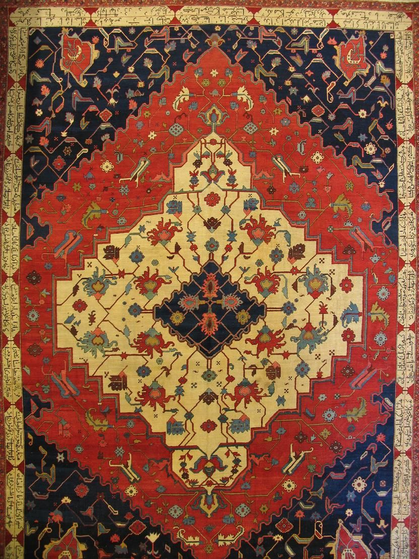 Great Antique Serapi carpet from about 1880
