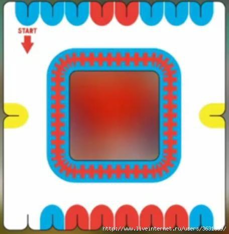 Схема кумихимо плоская