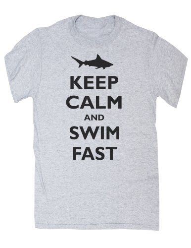 TooLoud Save The Sharks Dark Muscle Shirt