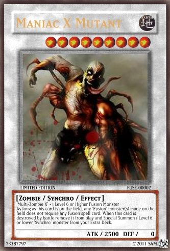 ... Zombie Type Cards - Realistic Cards - Single Cards - Yugioh Card Maker