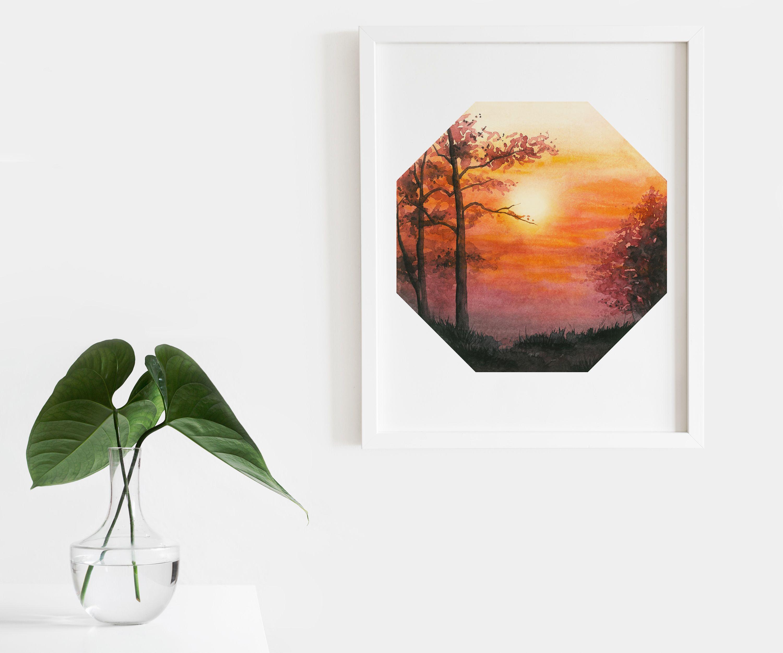 Landscape Modern Art Print