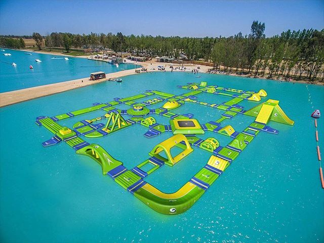 Huge Wibit Sports Park At Wakeisland California Usa