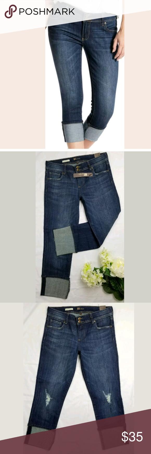Kut From Kloth Stitch Fix Cropped Slim Jeans Nwt Slim Jeans Blue Fashion Cuffed Jeans