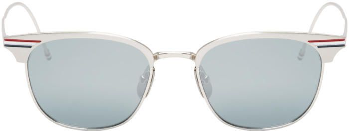 9ffa39ef3 Thom Browne Silver Horn-Rimmed Sunglasses | Products | Sunglasses ...