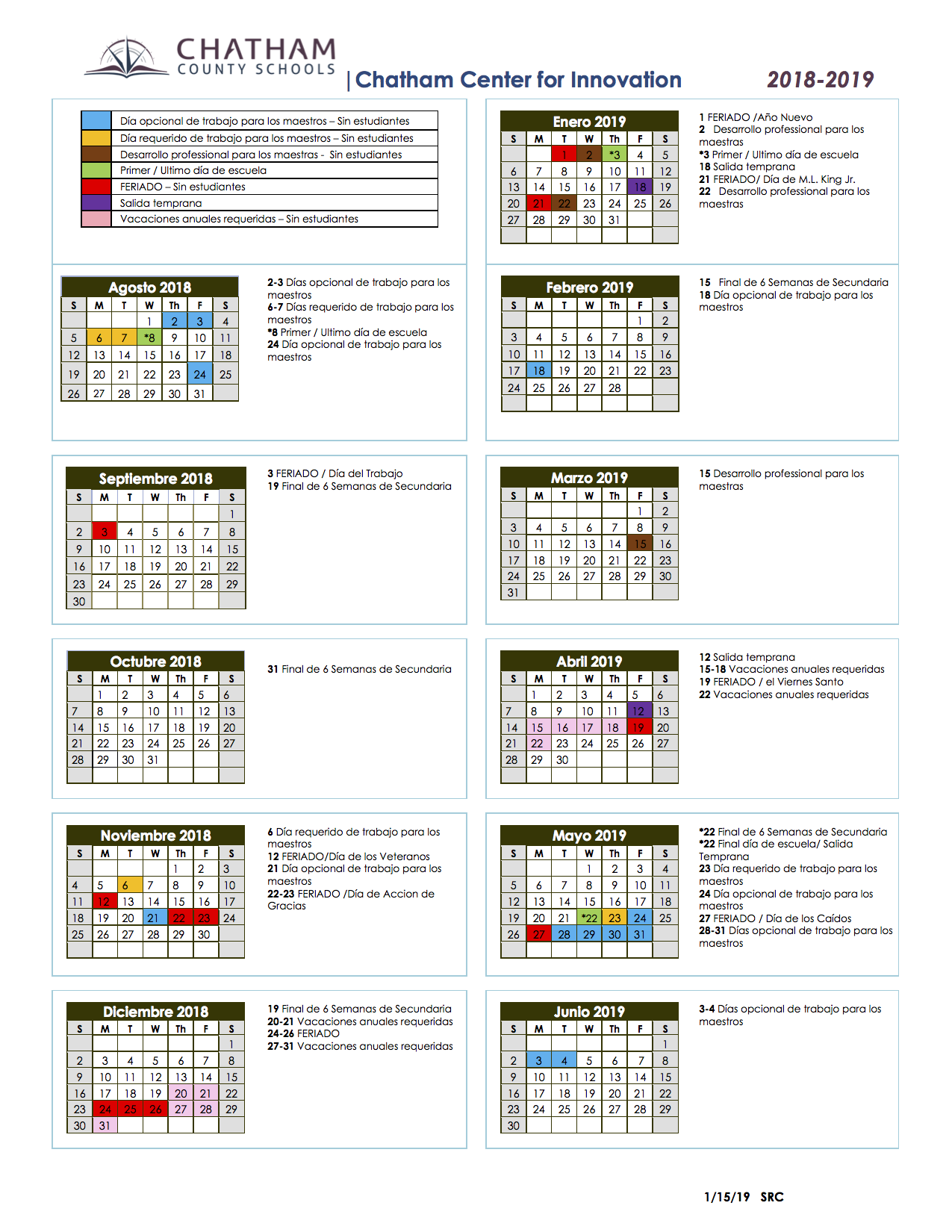 Images of Moore County Schools Calendar 2021