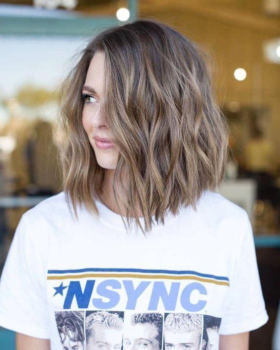 Langes abgeschnittenes bobfarbenes Haar #hairmakeup