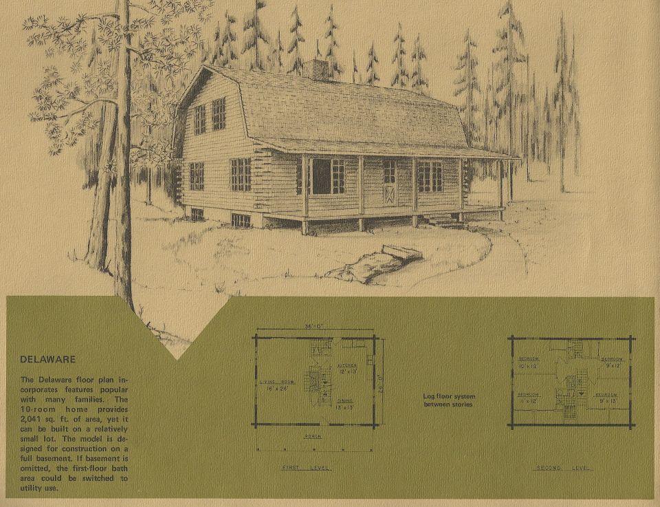 Vintage Log Cabin Plans 7 Log Cabin Plans Cabin Plans Log Cabin