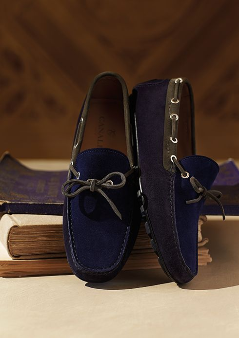 4a6418efa78706 Suede calfskin laced moccasins in three colours - Style Detour canali. Find  this Pin and more on Men s ...