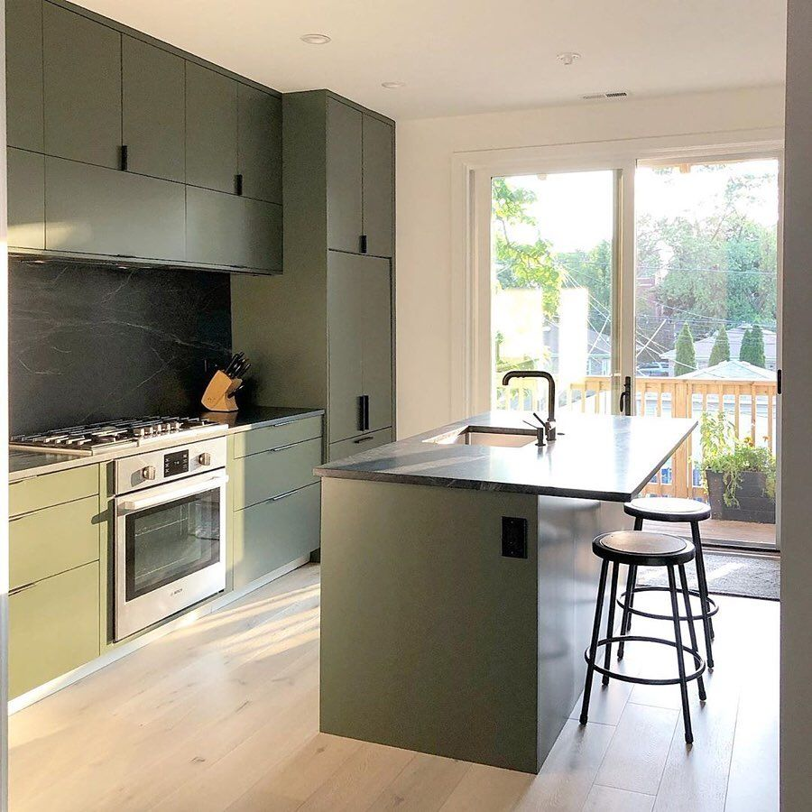 Semihandmade On Instagram Swipe For The Before No Bad Angles In This Olive Green Chicago Kitchen For A Sophistic Ikea Kitchen Design Design Your Kitchen