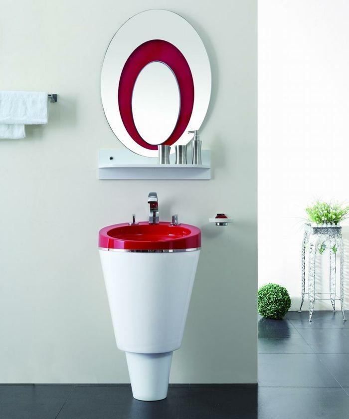 luxuriöse Einrichtung für Badezimmer, freistehender Handwaschbecken ...