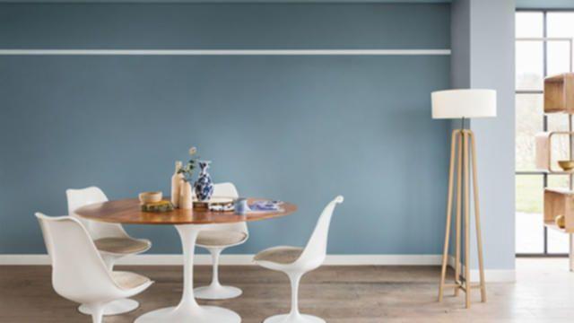 Afbeeldingsresultaat voor interieur blauw grijs | Woonkamer Denim ...