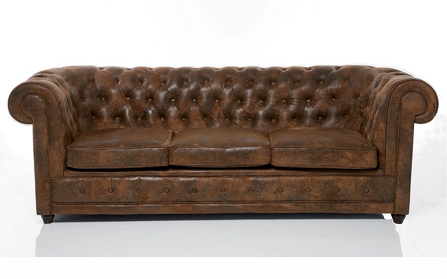 Sofa 3 plazas chester clasico ford material: madera de abeto ...