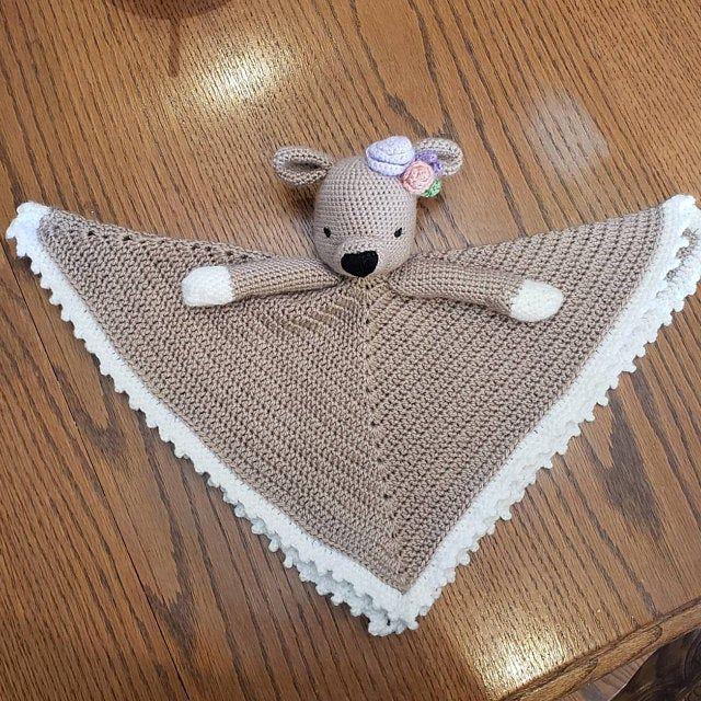 Bunny crochet lovey | Briggs The Sleepy Bunny Security Blanket | Crochet pattern | PDF - PATTERN ONLY in English