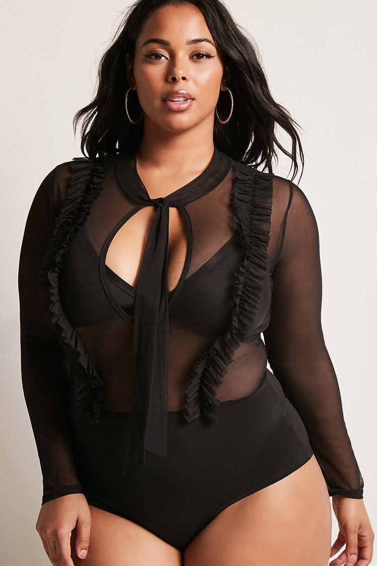 Product Name Plus Size Sheer Bodysuit 71dfdc8f9