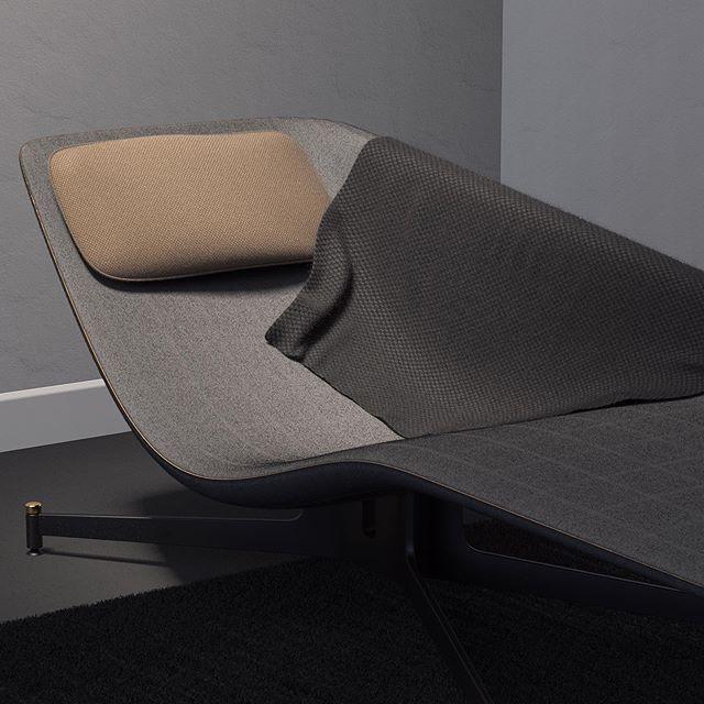 "Cameron Bresn on Instagram: """"Corbusihair"" - #rwkeyshotmonth #renderweeklyxoxfjord  #blender #productdesign #render #industrialdesign #interiordesign #furnituredesign…"""
