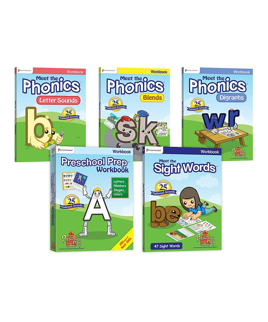 Look at this Preschool Prep Workbook Set on #zulily today ...