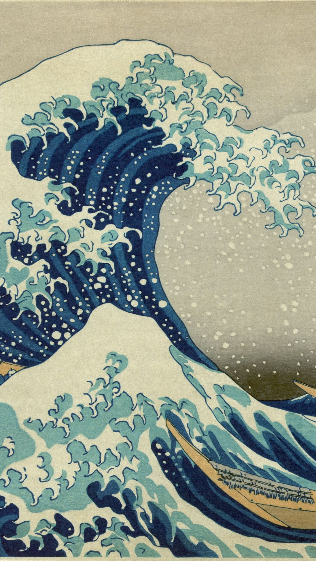 ↑↑tap and get the free app! art the great wave off kanagawa blue