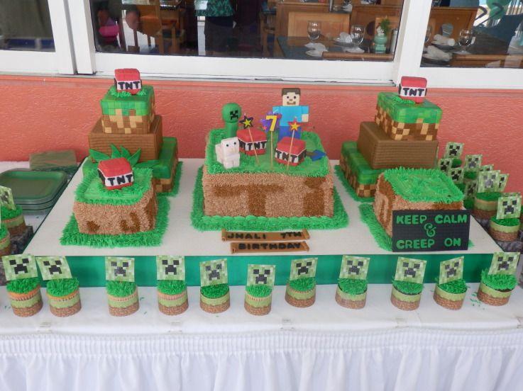 mine craft cake ideas Minecraft Birthday Cake Cake Decorating