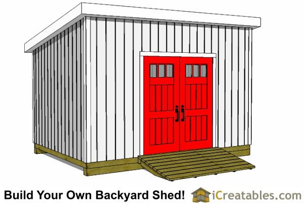 10x24 Lean To Shed Plans Door On High Side Lean To Shed Plans Lean To Shed Storage Building Plans