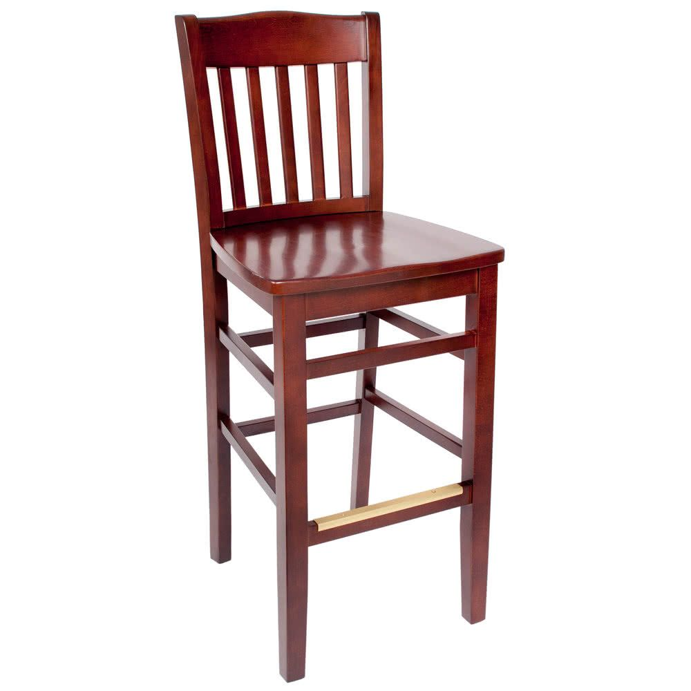 Bfm Seating Swb303rm Rm Columbia Royal Mahogany Colored Beechwood Bar Height Chair Bar Height Chairs Pub Table Sets Patio Bar Set