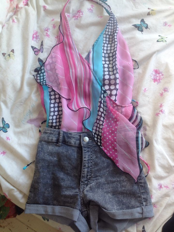 My outfit for the festival #hippychic #hippy #outfit #festival #fashion #highwaist #h&m #morgan