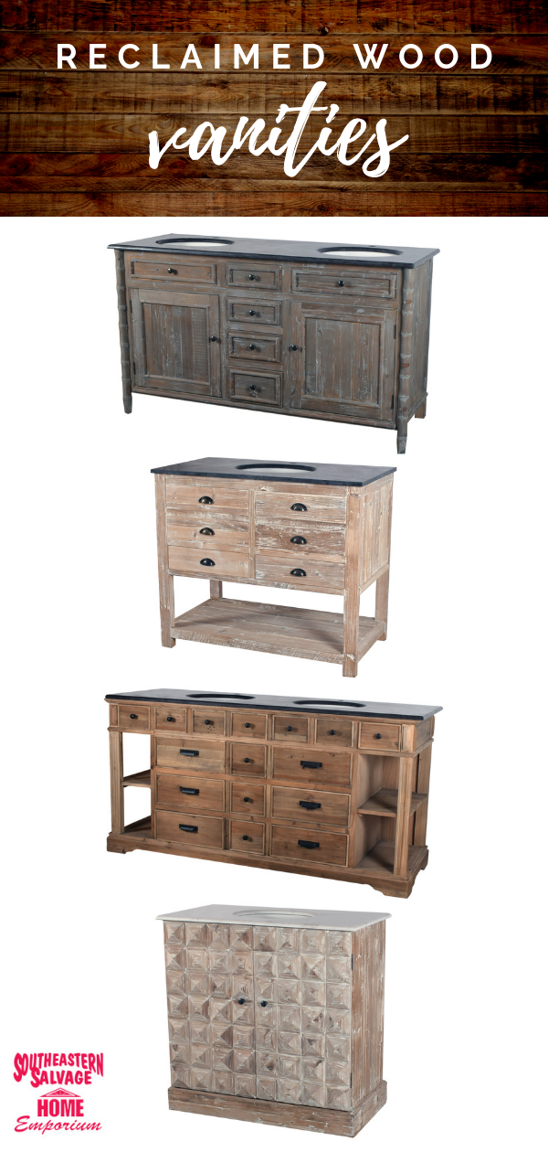 Shop Our Reclaimed Wood Vanities New Styles In Now Reclaimed