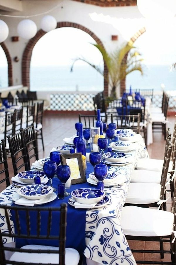 Cobalt Blue Christmas Ideas Pinterest Wedding Blues And Table