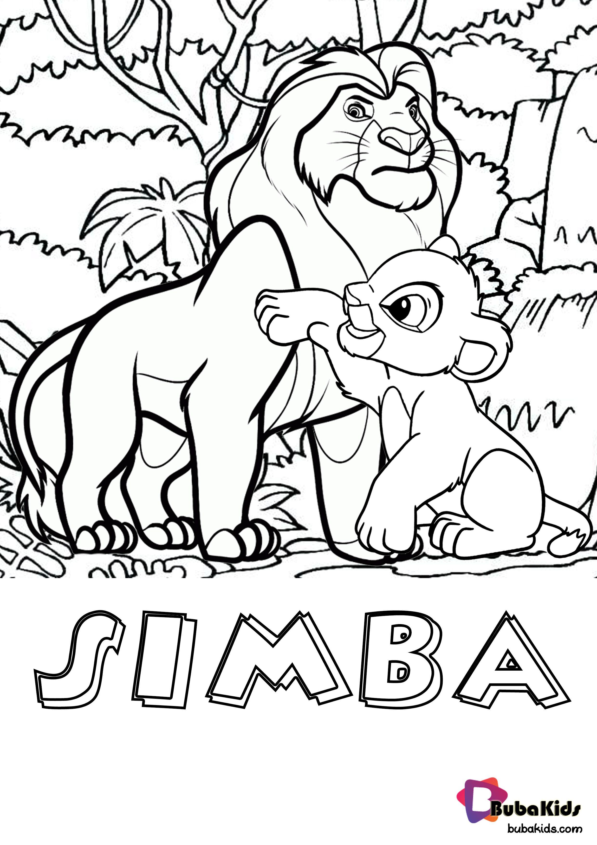 Simba Lion King Printable Coloring Page Free