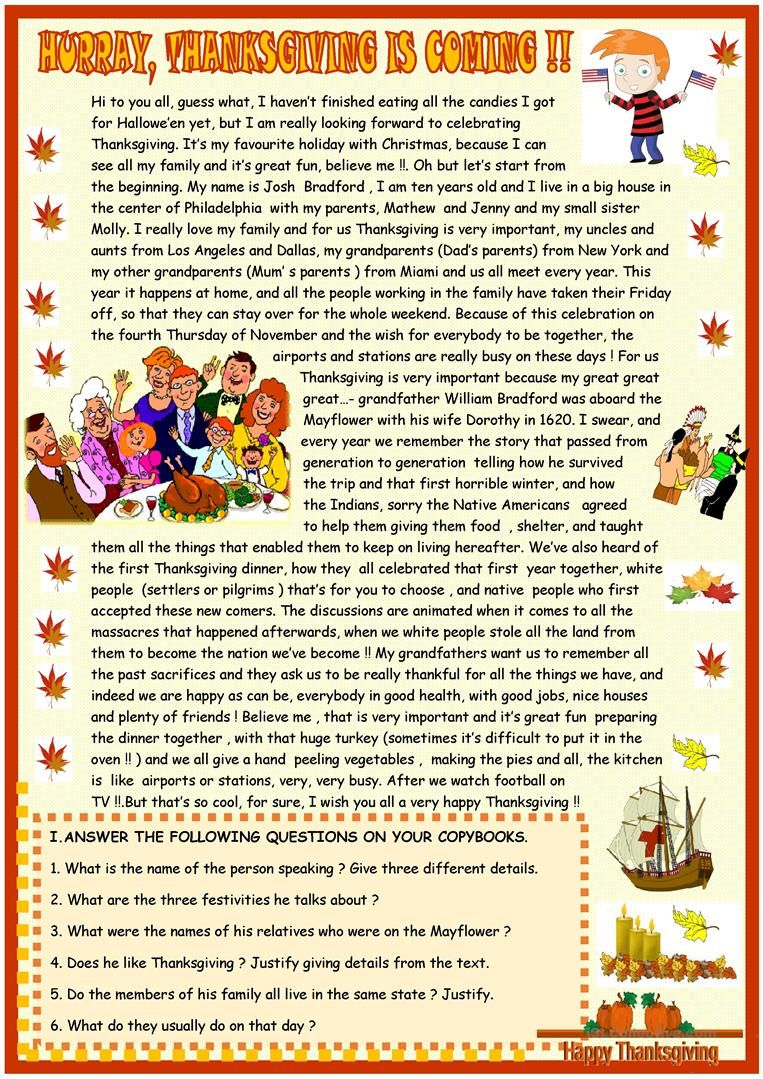 worksheet Thanksgiving Reading Comprehension Worksheets thanksgiving reading comprehension pinterest comprehension