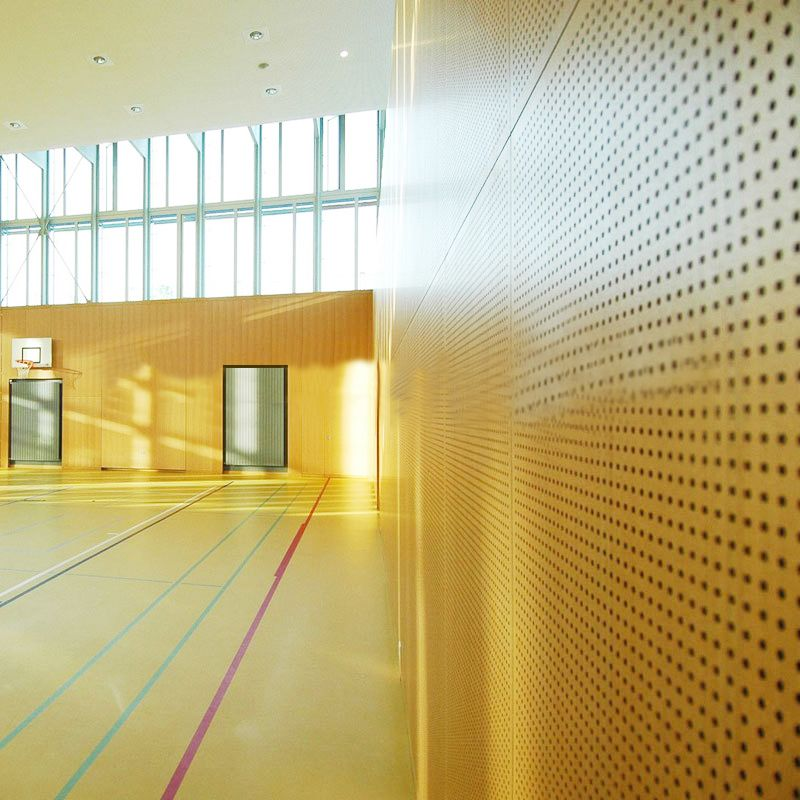 Acoustic Foam Fireproof Material Decorative Sound Absorbing Meeting Room Perforated Wood Panels