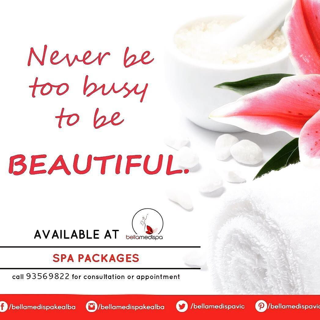 Never be too busy to be beautiful call us for your
