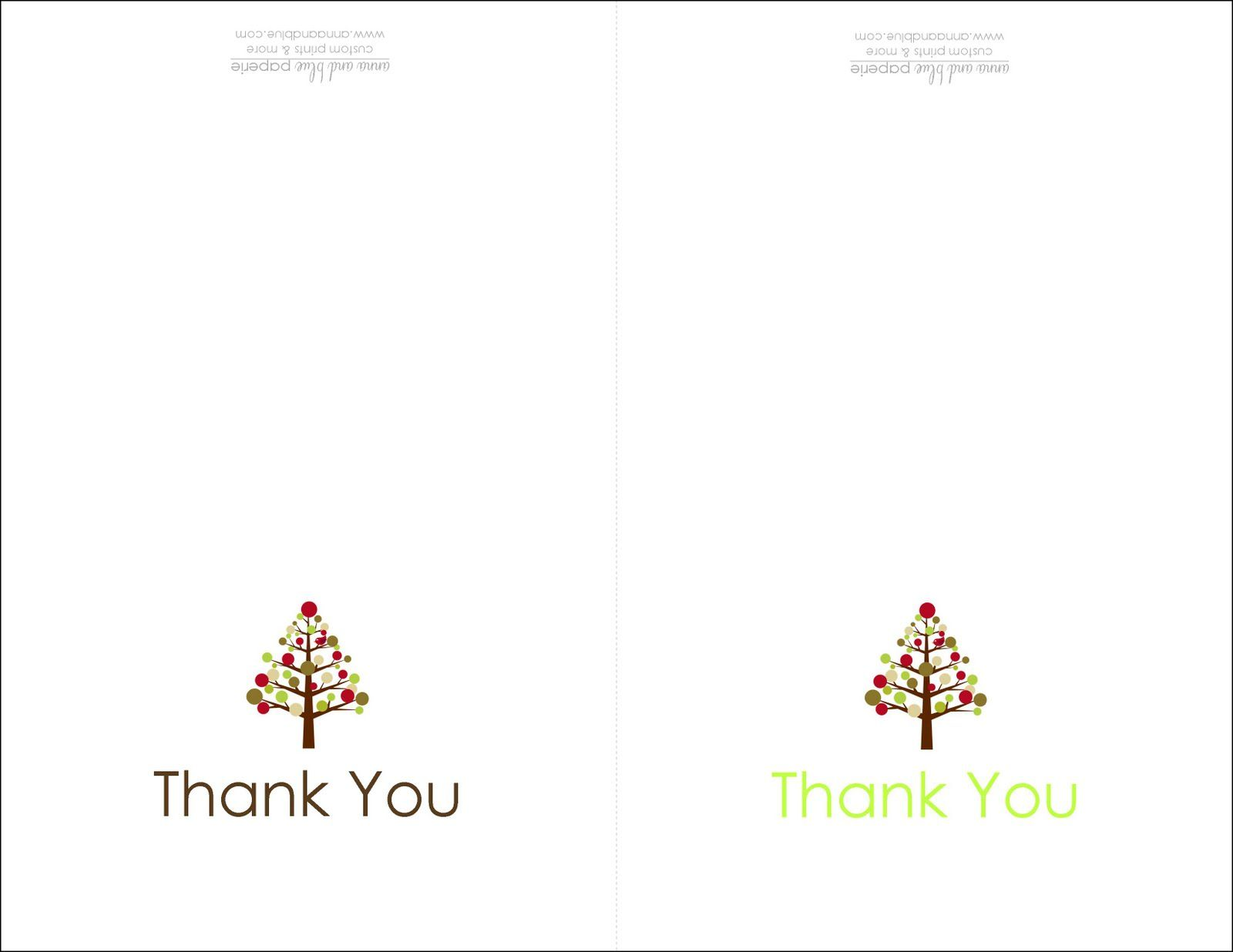 Thank You Cards Printable  Printable    Villas