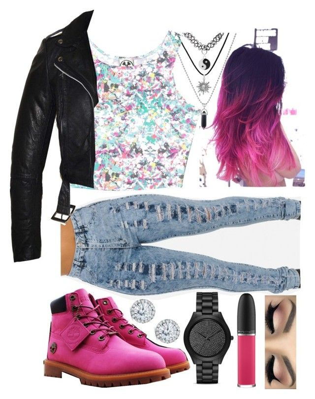 """""""Around & About"""" by nessymessy1116 ❤ liked on Polyvore featuring Civil, Timberland, Michael Kors, Kobelli, MAC Cosmetics and Morphe"""