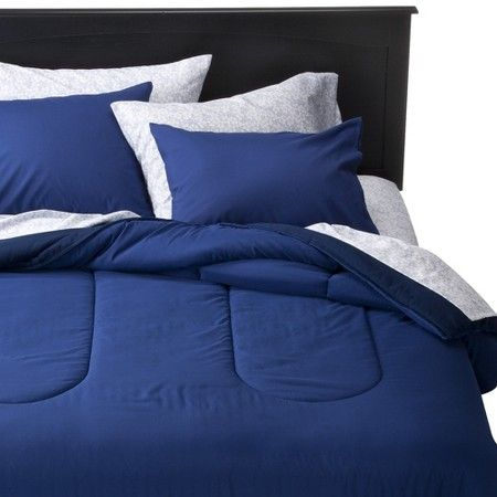 Room Essentials Twin Xl Twin Xl Reversible Solid Comforter Blue Target Room Essentials Comforters Blue Comforter Navy blue twin xl comforter