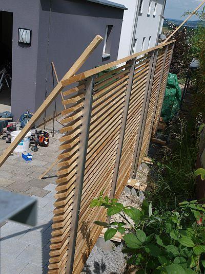 26. Montage einseitiger Sichtschutz #pergolaideas #bambussichtschutz
