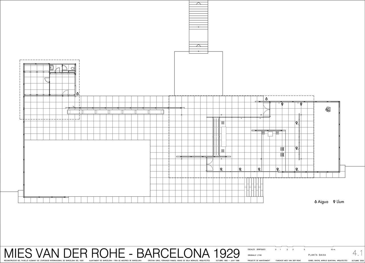 Casa A Tre Corti Plan Ludwig Mies Van Der Rohe Vans