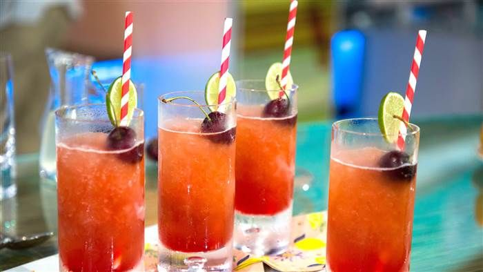 Cherry Beer Slushies #champagnepopsicles