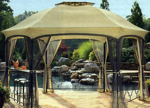 Dawson Hexagonal Gazebo Replacement Canopy / High Grade & Dawson Hexagonal Gazebo Replacement Canopy / High Grade ...