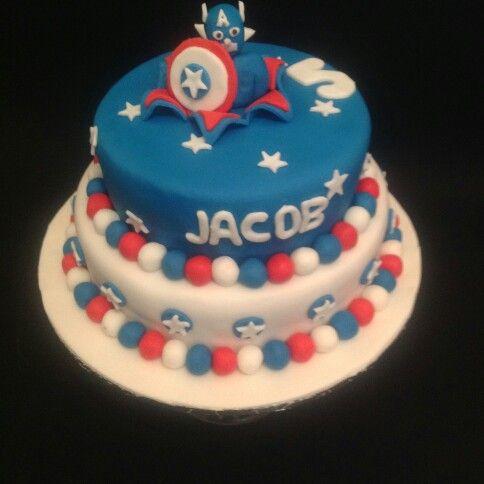 Captain America cake for little boys birthday Cakes Ive made