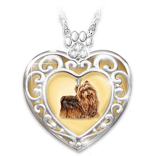 Glowing with love yorkie pendant necklace my bradford stuff glowing with love pendant necklace with yorkie charm aloadofball Gallery