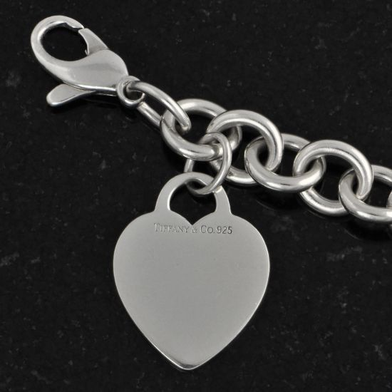 Vintage Tiffany Co Heart Tag Charm Bracelet Perry S Fine Antique Estate Jewelry