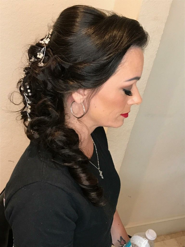 Pin by ana mcdowell on bridesmaid hair pinterest bridesmaid hair