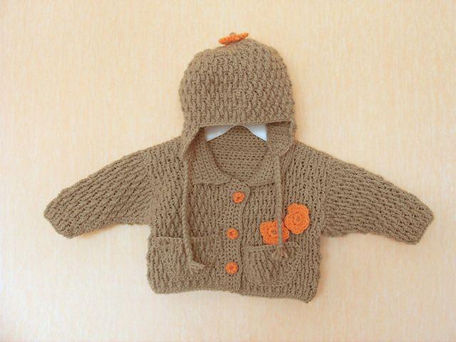 Raglan jacket baby stricken