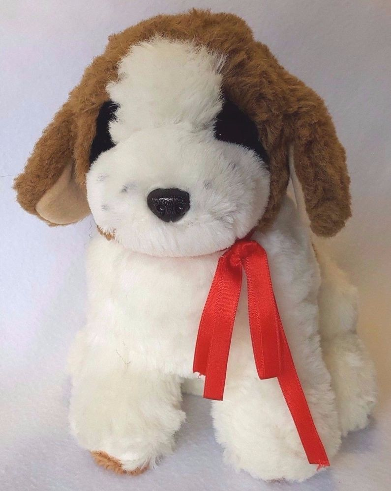 1986 Vintage Etone 12in Saint Bernard Puppy Plush Stuffed Animal