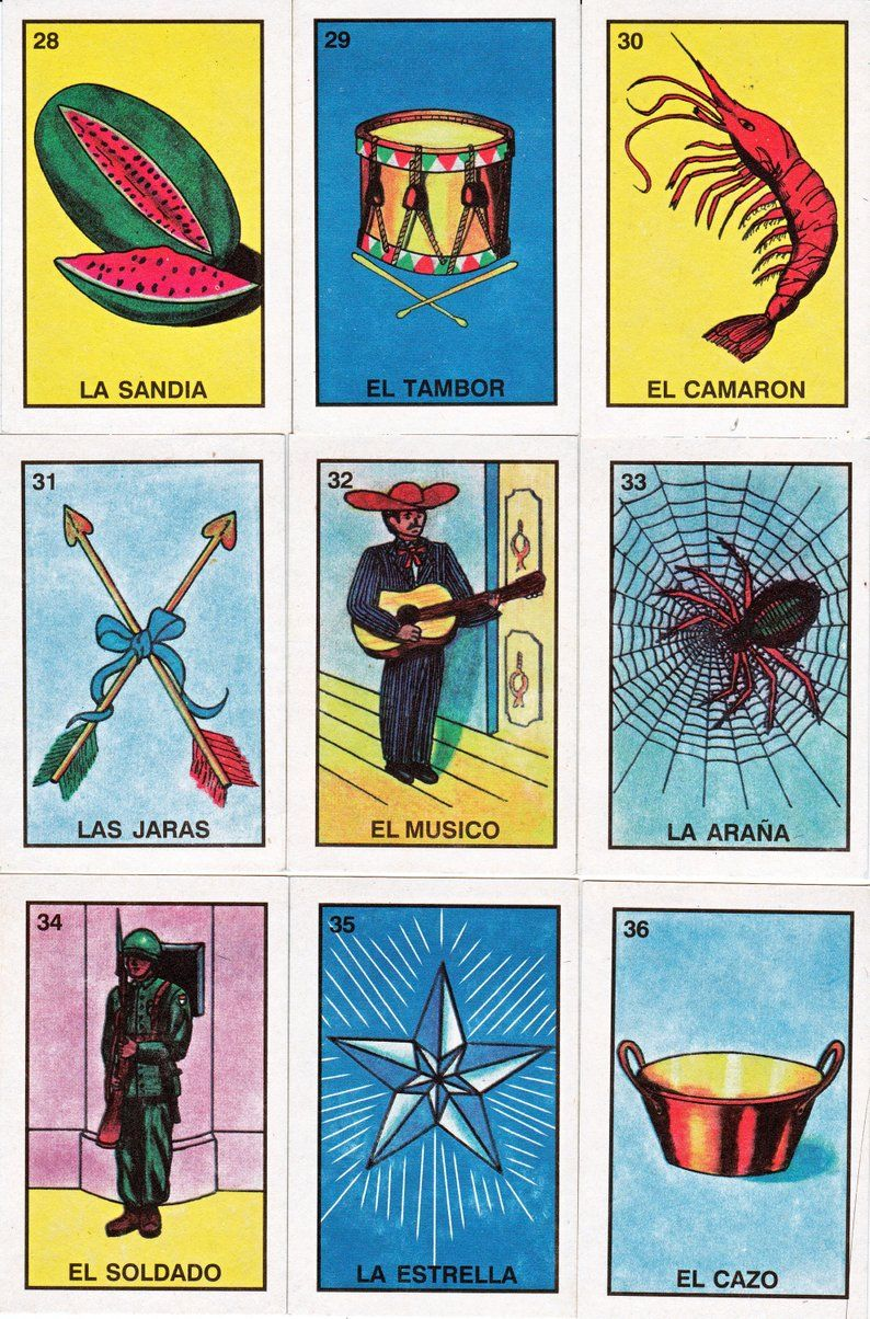 photograph about Loteria Cards Printable named Mexican loteria playing cards, 6 web pages of alternate playing cards