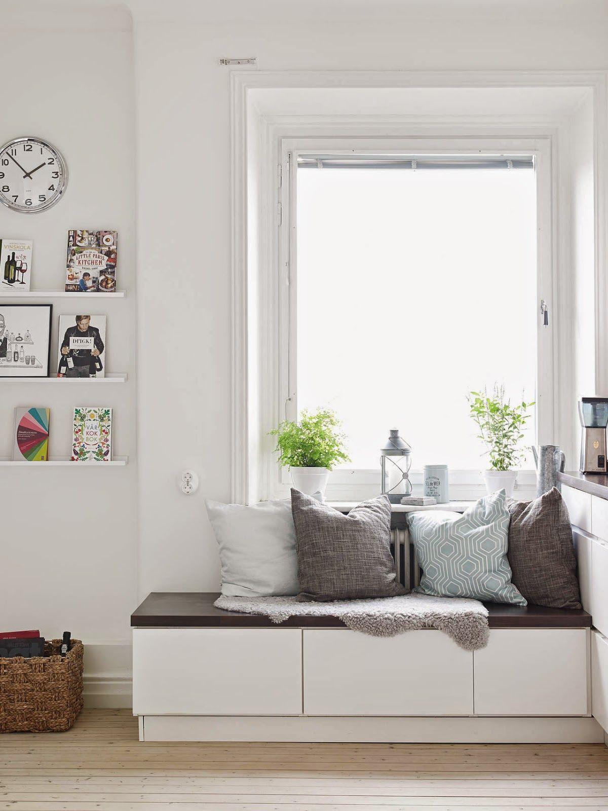 Banco con almacenaje bajo ventana | Asiento bajo ventana | Pinterest ...