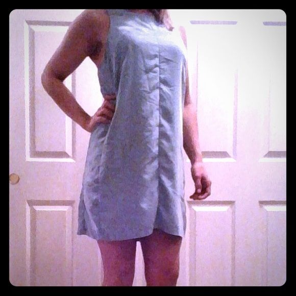 Calvin Klein Powder Blue Sheath Dress This dress is adorable. Cut out in the back. Worn once maybe twice. Price negotiable, willing to bundle. Calvin Klein Dresses