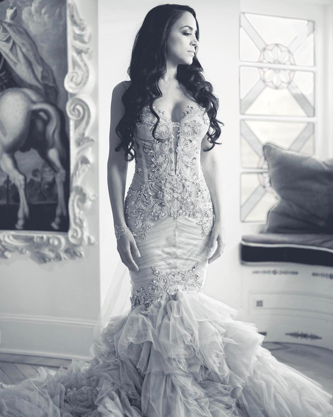 """""""Mi piace"""": 7,647, commenti: 93 - Pnina Tornai (@pninatornai) su Instagram: """"#PninaBride Shannel is a stunner in this crystal embellished #WindUponWater Collection gown.…"""""""