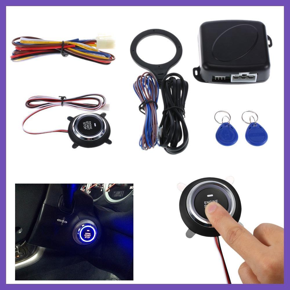 Auto Car Alarm Engine Starline Push Button Start Stop Rfid Lock