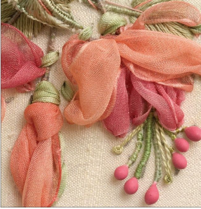 Lovely Fabric used with this embroidery.